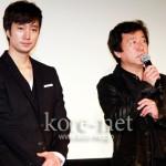 パク・ヘイル、カム・ウソク監督が韓国映画『黒く濁る村』舞台挨拶のため来日!
