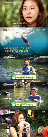 「AFTERSCHOOL」ユイ、人魚のような美貌と泳ぎで魅了