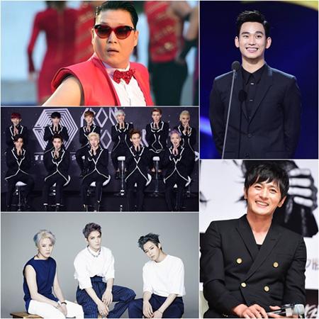 PSY&「EXO」、チャン・ドンゴンらが仁川アジア大会のために集結