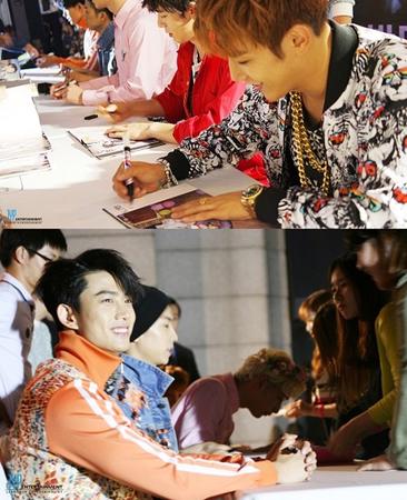 「2PM」、韓流スター通りでのサイン会にファン殺到