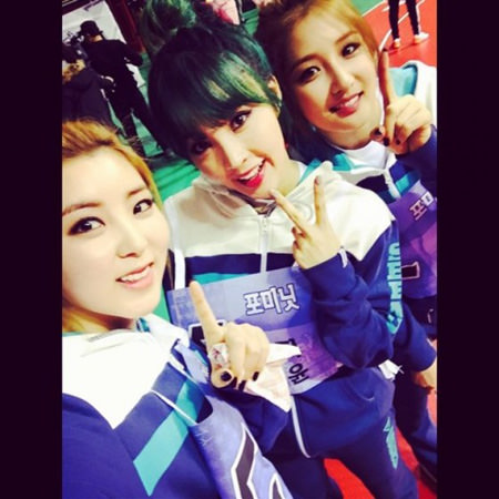 「4Minute」、MBC「アイドル陸上大会」で撮った写真を公開
