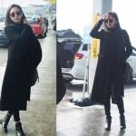 """女優イ・テイム、番組撮影で日本へ出国… 空港ファッションは""""オールブラック"""""""