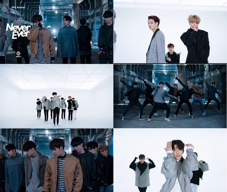 韓国アイドルグループ「GOT7」の新曲「Never Ever」MVの再生回数が1000万回突破を記念して振付バージョンのMVが公開された。