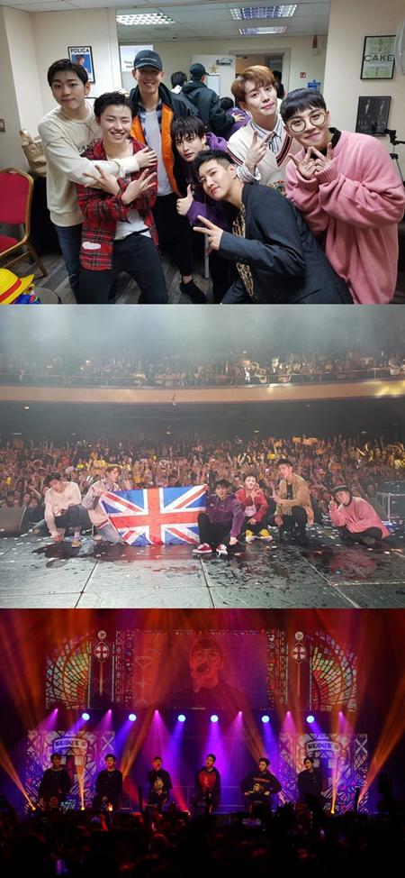 「Block B」、ロンドン公演も大盛況! 英国で活躍中の韓国代表FWソン・フンミンも応援に