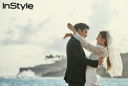 俳優チュ・サンウク&女優チャ・イェリョン、ロマンチックなウエディング画報公開!