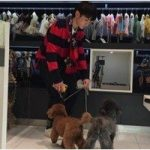 SHINee キー、愛犬とのセルフショットを試みるも…目線をもらえず「何枚か撮ろう」