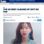 「少女時代」テヨン、米FUSE TV「2017上半期ベストアルバム20」に選定!