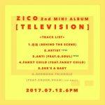 「Block B」ジコ、12日リリースのミニアルバムトラックリスト公開
