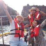 カン・ホドン、ヨンファ(CNBLUE)、キム・ヒソン、バラエティ番組「島銃士」の撮影中