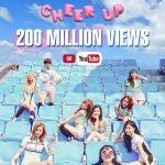 「TWICE」、「CHEER UP」MVの再生回数が2億ビューを突破