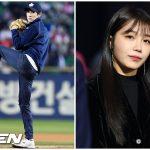 「PHOTO@ソウル」韓国プロ野球で、ユ・ヨンソクが試球式、Aprilチョン・ウンジが国歌斉唱を担当