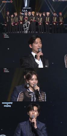 <2017AAA>俳優ナムグン・ミン&パク・ヘジン、ユナ(少女時代)、「SEVENTEEN」、ベストアーティスト賞を受賞