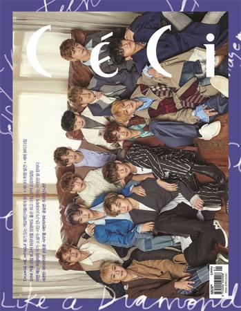 "「SEVENTEEN」、ファッション誌「CeCi」1月号に完全体で登場""イケメンの隣にまたイケメン"""