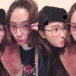"""ジェシカ&f(x) クリスタル、アプリでメガネをかけたキュートな映像公開""""美人姉妹のお茶目な姿"""""""