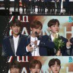 """「GAONチャートアワード」Wanna One、「新人賞」受賞にパク・ジフン""""素敵な賞を保存"""""""
