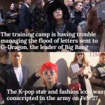 """米タイム誌、"""" BIGBANG G-DRAGONの入隊と大量のファンレターで軍が混乱状態""""と報道"""