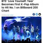 防弾少年団、K-POP初メインチャート「ビルボード 200」1位…12年ぶりの外国語アルバム