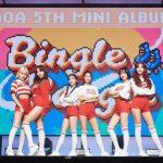 「AOA」、5thアルバム「BINGLE BANGLE」が13か国のiTunesK-POPアルバムチャートでトップ3入り!