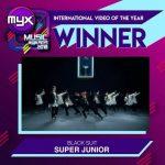 SUPER JUNIOR、フィリピン最大の音楽授賞式で栄冠!韓国アーティスト唯一の受賞者に