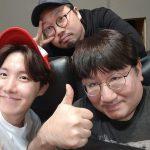 """Big Hitパン・シヒョク、防弾少年団(BTS)J-HOPEと記念写真…""""ビルボード1位歌手。家門の光栄"""""""