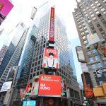 Wanna Oneハ・ソンウン、ファン投票1位でニューヨーク・タイムズスクエアの電光掲示板に登場!