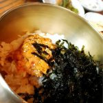 <トレンドブログ>【韓国グルメ】 カロスキルで美味しいウニビビンバ★ユッケビビンパが人気のサノ(サンホ)