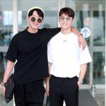 CNBLUEミンヒョク&ジョンシン、イケメンたちの空港ファッション