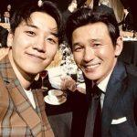 """V.I(BIGBANG)、俳優ファン・ジョンミンとの2ショット公開し""""幅広い人脈""""が話題"""