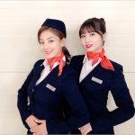 「TWICE」ジヒョ&モモ、乗務員姿での2ショットを公開