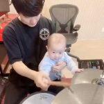 """チェ・ミンファン(FTISLAND)、生後6か月の息子と""""ドラム遊び""""の様子を公開"""
