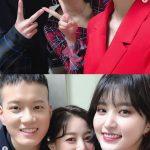 「EXID」ジョンファ×「TWICE」ジヒョ×「BTOB」プニエル、友情ショット公開