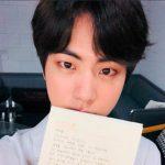 防弾少年団(BTS)JIN、自身の誕生日を迎えてファンに手紙「僕の誕生日を楽しんでくださる姿、うれしくて幸せ」