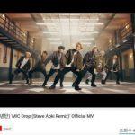 「防弾少年団」、「MIC Drop(Steve Aoki Remix)」MVが再生回数4億回突破