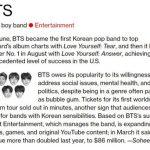 """""""韓国歌手初""""「防弾少年団」、米ブルームバーグが選んだ「The Bloomberg 50」に選定"""