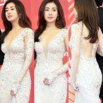 女優カン・ソラ、セクシードレスで「ゴールデンディスク」授賞式の場を圧倒