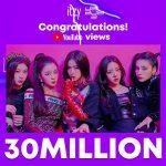 """""""TWICE妹分""""「ITZY」、 デビュー曲が5つの音源チャート首位&MV再生回数3000万回突破!"""