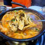 <トレンドブログ>【韓国グルメ】 麻薬スープ!加陽カルグッス きのことセリの辛い鍋が美味