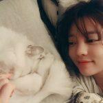 <トレンドブログ>ク・ハラ、伴侶猫と甘い日常♥…すっぴんがとってもキュート