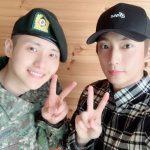 B1A4シヌゥ、本日(7日)基礎軍事訓練が終了…ゴンチャンがお祝い