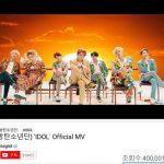 [公式立場]防弾少年団「IDOL」MV 4億再生突破!通算7曲目韓歌手最多記録更新