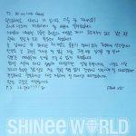 """【全文】""""4日入隊""""キー(SHINee)、ファンに向けた直筆の手紙を公開"""