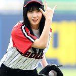 「PHOTO@ソウル」TWICEモモ、韓国プロ野球シリーズの始球式に登場