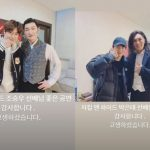 """EXOスホ、「ジキル」チョ・スンウ&パク・ウンテに会った…""""素敵な公演ありがとうございます"""""""