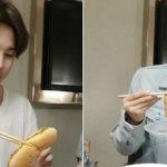 防弾少年団、米国ツアー中の近況公開…ホットドッグを箸で食べる?!