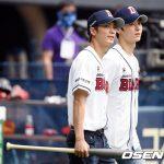 「NU'EST」ミンヒョン&JR、始球&始打で野球ファンも魅了