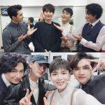 EXOチェン、SUPER JUNIORキュヒョン&イェソン&ウニョク、ミュージカル「狂炎ソナタ」鑑賞の写真公開