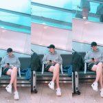 """<トレンドブログ>イ・ミンホ、空港で際立つビジュアル""""驚くべき脚の長さ+笑顔""""に胸キュン"""