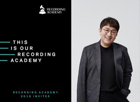 パン・シヒョク代表、「防弾少年団」と共に米グラミー「The Recording Academy」会員に選定