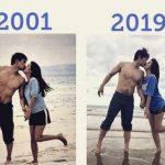 俳優チャ・インピョ&シン・エラ、18年前とまったく同じ場所とポーズで…歳月を感じさせないビジュアル