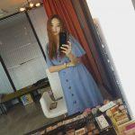 <トレンドブログ>ハン・チェヨン、鏡に映ったバービー人形..雨が降った後きれいな美貌